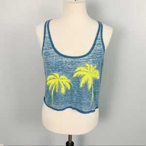 Forever 21 | Palm Tree Burnout Crop Top